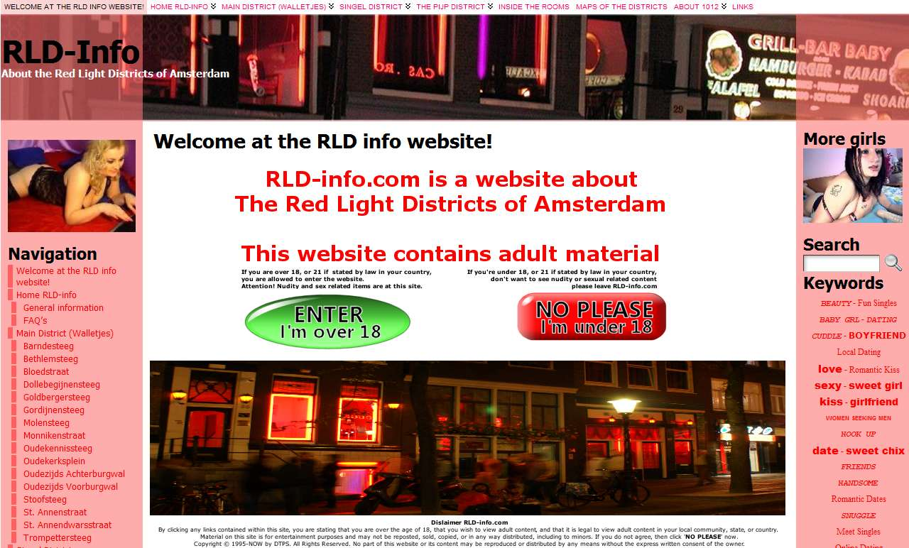 Welcome to the Amsterdam Red Light Districts information website